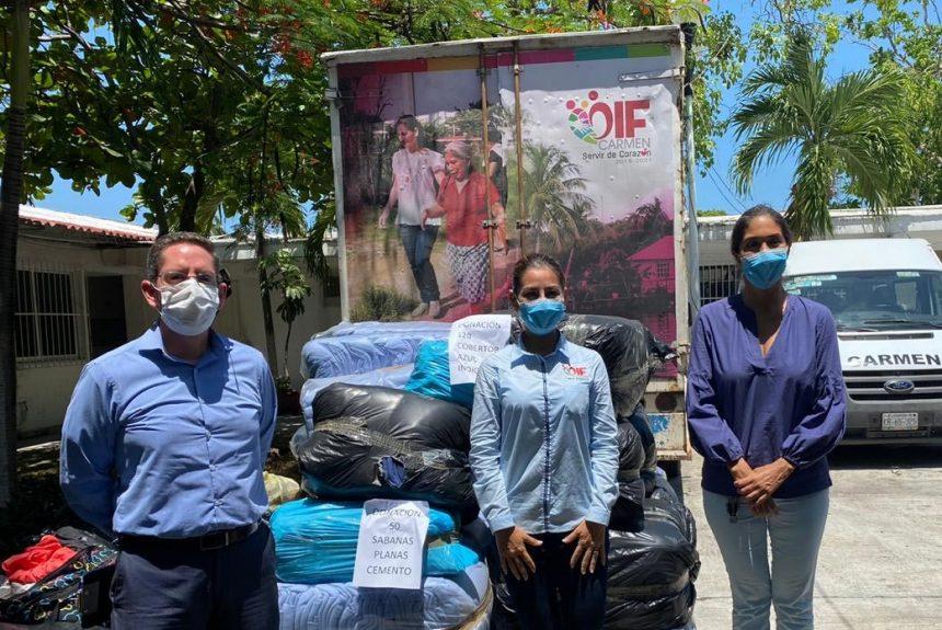 Cotemar intensifica acciones de apoyo al DIF Carmen para atender a las familias afectadas por la tormenta tropical Cristóbal
