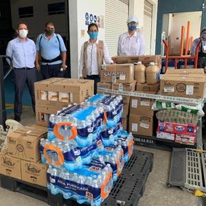 Dona Cotemar víveres al DIF Carmen para atender a la población afectada por la tormenta tropical Cristóbal